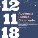 Audiência Pública - Orçamento 2019