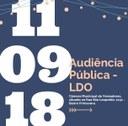 CONVITE para audiência pública referente a Lei de Diretrizes Orçamentárias - LDO 2019