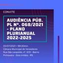 CONVITE para Audiência Pública referente ao Plano Plurianual 2022-2025
